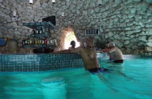 Swim Up Cave Bar